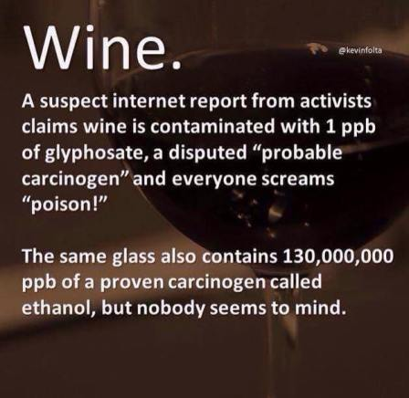 inconsistency wine glyphosate